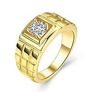 Herre Band Ring Guld Zirkonium Plastik Guldbelagt Cirkelformet Sej Rock Daglig Arbejde Kostume smykker