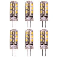baratos Luzes LED de Dois Pinos-WeiXuan 6pcs 2W 160lm G4 Luminárias de LED  Duplo-Pin T 24 Contas LED SMD 2835 Branco Quente Branco Frio 12V