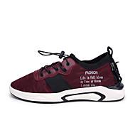 billige Herresko-Herre Novelty Shoes Strik Forår / Sommer Sneakers Sort / Rød