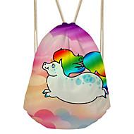 tanie Plecaki-Damskie Torby Brezentowy plecak Z dziurką Rainbow