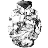Herre Gatemote / Chinoiserie Bukser - Geometrisk / 3D Hvit / Med hette / Langermet / Høst