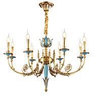 billige Takbelysning og vifter-ZHISHU 8-Light Candle-stil Lysekroner Opplys - Krystall, Mini Stil, 110-120V / 220-240V Pære Inkludert / 20-30㎡