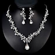 billiga Bröllops- och festsmycken-Dam Smyckeset - Europeisk, Mode Omfatta Silver Till Bröllop Dagligen