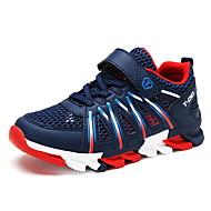 baratos Sapatos de Menino-Para Meninos Sapatos Tule / Couro Ecológico Verão Conforto Tênis Corrida Velcro para Cinzento / Vermelho / Azul