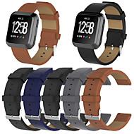 billiga Smart klocka Tillbehör-Klockarmband för Fitbit Versa Fitbit Klassiskt spänne Äkta Läder Handledsrem