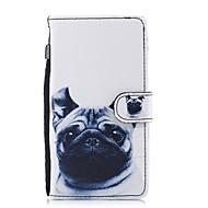 billiga Mobil cases & Skärmskydd-fodral Till Huawei P10 Lite P8 Lite (2017) Korthållare Plånbok med stativ Lucka Mönster Fodral Hund Hårt PU läder för P10 Lite P8 Lite