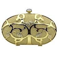 tanie Kopertówki i torebki wieczorowe-Damskie Torby Stop Kopertówka Dodatki kryształowe na Wydarzenie / impreza Casual Lato Na każdy sezon Gold Silver