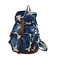 baratos Mochilas-Unisexo Bolsas mochila Estampa Geométrica Azul Escuro / Cinzento Claro / Azul Real