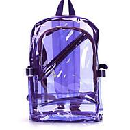 tanie Plecaki-Damskie Torby PVC plecak Zamek na Casual Na wolnym powietrzu Wiosna Jesień Niebieski Clover Black Orange Purple