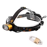 levne Svítilny-HKV Čelovky / Lampa LED 1000lm 3 Režim osvětlení Přenosná / Voděodolné / Život Kempování a turistika / Každodenní použití / Cyklistika