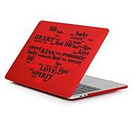 """tanie Akcesoria do MacBooka-MacBook Futerał na Romantyczne Napis Serce Plastikowy Nowy MacBook Pro 15"""" Nowy MacBook Pro 13"""" MacBook Pro 15 cali MacBook Air 13 cali"""
