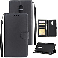 billiga Mobil cases & Skärmskydd-fodral Till Xiaomi Redmi 5 Plus Redmi 5A Korthållare Plånbok Stötsäker Lucka Fodral Enfärgad Hårt PU läder för Xiaomi Redmi Note 4X