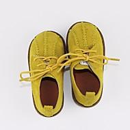 tanie Obuwie dziewczęce-Dla dziewczynek Dla chłopców Buty Nubuk Wiosna Jesień Comfort Oksfordki na Casual Black Gray Yellow