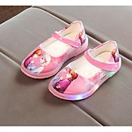 baratos Sapatos de Menina-Para Meninas Sapatos Courino Primavera / Outono Primeiros Passos / Sapatos para Daminhas de Honra Rasos para Preto / Azul / Rosa claro