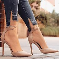 baratos Sapatos Femininos-Mulheres Sapatos Pele Nobuck Primavera / Outono Conforto / Inovador Saltos Salto Agulha Dedo Apontado Presilha Verde / Azul / Amêndoa