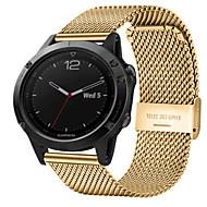 billiga Smart klocka Tillbehör-Klockarmband för Fenix 5x Garmin Milanesisk loop Rostfritt stål Handledsrem