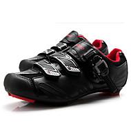 Tiebao® ロードバイクシューズ カーボンファイバー アンチスリップ サイクリング 黒 / 赤 男性用 サイクリングシューズ / フック&ループ