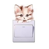 billiga Väggklistermärken-Väggdekal Dekrativa Väggstickers Klistermärken för strömbrytare - Animal Wall Stickers Djur Kan ompositioneras Kan tas bort