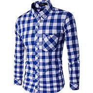 Majica Muškarci-Osnovni Dnevno Karirani uzorak Print
