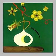 billiga Abstrakta målningar-Hang målad oljemålning HANDMÅLAD - Abstrakt Stilleben Vintage Duk