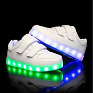 baratos Sapatos de Menino-Para Meninos / Para Meninas Sapatos Couro Ecológico Verão / Outono Tênis com LED Tênis LED para Crianças Branco / Preto
