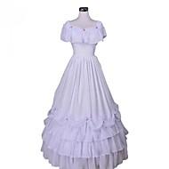 Viktorianisch Mittelalterlich Kostüm Damen Kleid Party Kostüme Maskerade Weiß Vintage Cosplay Spitze Organza Terylen Ärmellos Normallänge Ballkleid Übergrössen Kundenspezifische