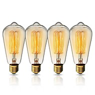 billige Glødelampe-KWB 1set 40W E26 / E27 ST64 Varm Gul 2200k By Utsikt Glødende Vintage Edison lyspære 220-240V