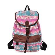 baratos Mochilas-Mulheres Bolsas Tela de pintura mochila Estampa Floral Verde / Laranja / Azul Escuro