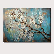 cheap Oil Paintings-Oil Painting Hand Painted - Abstract Floral / Botanical Modern Canvas