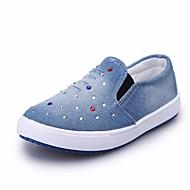 tanie Obuwie dziewczęce-Dla dziewczynek Dla chłopców Buty Jeans Wiosna Jesień Comfort Mokasyny i pantofle na Casual Dark Blue Light Blue