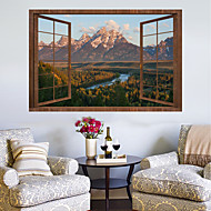 Wall Decal Decorative Wall Stickers   Plane Wall Stickers Landscape 3D  Re Positionable Removable