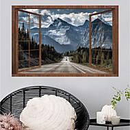 Lepicí obraz na stěnu Ozdobné samolepky na zeď - Samolepky na stěnu Krajina 3D Nastavitelná poloha Snímatelné