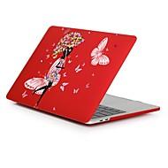 """tanie Akcesoria do MacBooka-MacBook Futerał na Romantyczne Seksowna dziewczyna Kwiaty Plastikowy Nowy MacBook Pro 15"""" Nowy MacBook Pro 13"""" MacBook Pro 15 cali"""