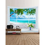 billige Veggdekor-Strand Tema Landskap Veggdekor 100% Polyester Klassisk Moderne Veggkunst, Veggtepper Dekorasjon