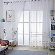 billige Gjennomsiktige gardiner-Gardiner Skygge Stue Stribe Moderne Bomull / Polyester Mønstret