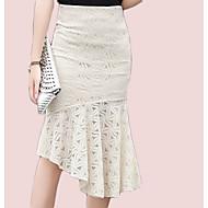 Žene Sirena kroj Vintage Suknje - Jednobojni