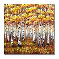 billiga Oljemålningar-styledecor® modern handmålad abstrakt gul skogsoljemålning på duk för väggkonst redo att hänga konst