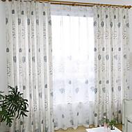 billige Gardiner-gardiner gardiner Stue Blomstret Bomull / Polyester Trykket