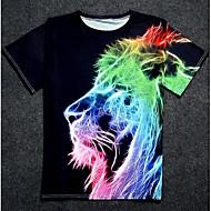 Rund hals Herre - Geometrisk Trykt mønster Basale T-shirt / Kortærmet