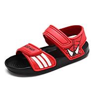 tanie Obuwie chłopięce-Dla chłopców Buty PU Lato Sandały Spacery na Casual Black Czerwony Blushing Pink Niebieski