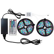 ZDM® 2x5M RGBストリップライト 600pcs LED 1 44キーリモコン 1 x 12V 3Aアダプタ 1 ACケーブル RGB カット可能 防水 ノンテープ・タイプ 装飾用 DC 12V 1セット