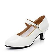 billige Moderne sko-Dame Moderne sko Lakklær Høye hæler Tvinning Kustomisert hæl Kan spesialtilpasses Dansesko Hvit / Innendørs