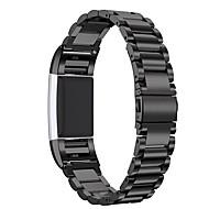 billiga Smart klocka Tillbehör-Klockarmband för Fitbit Charge 2 Fitbit Modernt spänne Metall Handledsrem