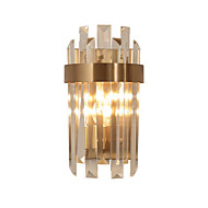 tanie Kinkiety Ścienne-Kryształ Ochrona oczu LED Modern / Contemporary Lampy ścienne Na Living Room Gabinet / Office Metal Światło ścienne 110-120V 220-240V 5W