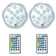 preiswerte Außenbeleuchtung-brelong® 2pcs 3w 12 leds unterwasserleuchten ferngesteuert / wasserdicht / dekorative rgb 5.5v schwimmbad
