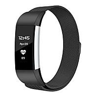 billiga Smart klocka Tillbehör-Klockarmband för Fitbit Charge 2 Fitbit Milanesisk loop Metall Handledsrem