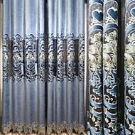 billige Gardiner ogdraperinger-gardiner gardiner Stue Moderne Bomull / Polyester Broderi