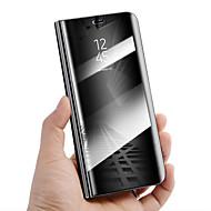 billiga Mobil cases & Skärmskydd-fodral Till Huawei Mate 10 lite Mate 10 pro Stötsäker med stativ Spegel Auto Sömn/Uppvakning Fodral Enfärgad Hårt PU läder för Mate 10