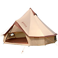 8 человек Белл Палатка Палатка На открытом воздухе С защитой от ветра Дожденепроницаемый Офис Однослойный Палатка >3000 mm для Походы / туризм / спелеология Путешествия Хлопок 400*400*250 cm