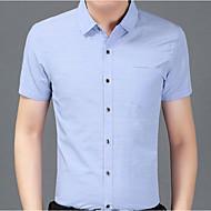 Pánské - Jednobarevné Základní Košile